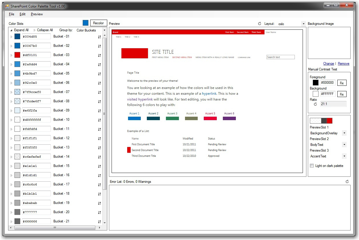 SharePoint_Color_Tool